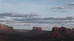 Sedona timelaspe from dark to light with clouds Stock Footage