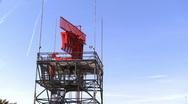 Stock Video Footage of Airport Radar Tower
