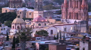 City church Mexico Stock Footage