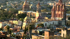 Mexican city Church Stock Footage