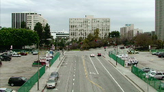 Downtown Los Angeles Streets Stock Footage