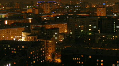 Evening city 2 Stock Footage