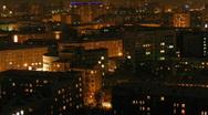 Evening city 2 Stock Footage