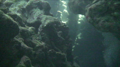 Underwater cave Stock Footage