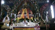 Buddhist Statue at Makdhog Monastery in Darjeeling India Stock Footage