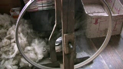 Spinning Cotton in Darjeeling India Stock Footage