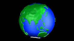 Cartoon Earth East Asia Stock Footage
