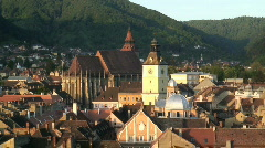 Townscape view Romania Stock Footage