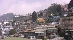 Darjeeling Cityscape - stock footage