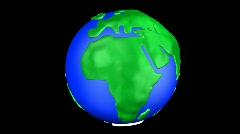 Cartoon Earth Warp Africa Stock Footage