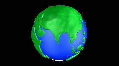 Cartoon Earth Warp India Stock Footage