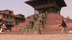 Durbar Square in Bhaktapur  Stock Footage