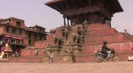Stock Video Footage of Durbar Square in Bhaktapur