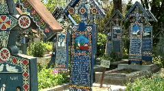 "Sapanta ""Merry Cemetery"", Stock Footage"