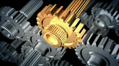 Gears - stock footage