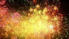 Fireworks Exploding in the Sky - stock footage