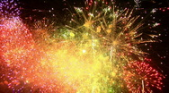 Stock Video Footage of Fireworks 25 - 1920x1080 HD