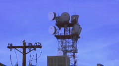 Telecom tower at dusk - time lapse  Stock Footage