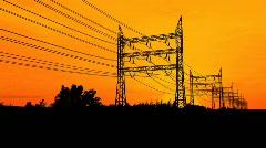Power Pylons - stock footage