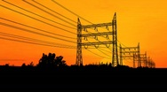 Stock Video Footage of Power Pylons