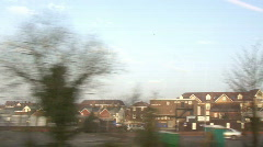 Stock Video Footage of Travelling train view from window