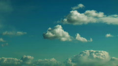 JHD - Sky & Clouds - Slow And Puffy 00591 Stock Footage