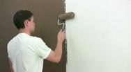 Man Painting Stock Footage