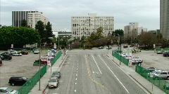 Empty Street in Downtown Los Angeles - stock footage