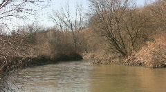 Muddy river. Three shots. Stock Footage