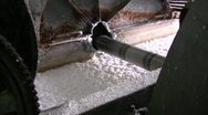 Paper pulp being processed Stock Footage