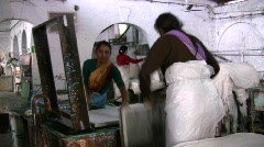 Paper factory in India Stock Footage