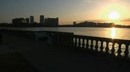 Bayshore Sunrise Jogger Stock Footage