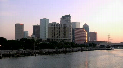 Downtown Tampa Monring Stock Footage