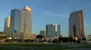 Tampa at Sunrise Pan Stock Footage