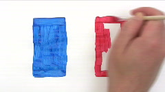 Painting French Flag - Time Lapse Stock Footage