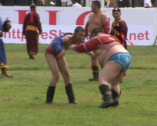Mongolia Naadam wrestling  - stock footage