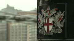 Lamp Post Crest and the Millennium Bridge Stock Footage