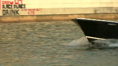 Boat In The Hillsborough River Stock Footage