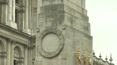 London Cenotaph Poppies - stock footage