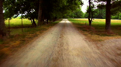 Rural Dirt Road in Tennessee Stock Footage