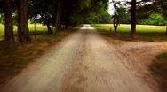 Stock Video Footage of Rural Dirt Road in Tennessee