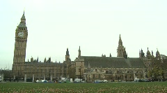 Westminster London, Houses of Parliament - stock footage