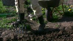 Break up soil Stock Footage