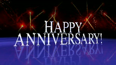 "Reflective Glass Floor with ""HAPPY ANNIVERSARY!"" LOOP Stock Footage"