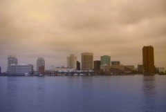 Norfolk virginia skyline Stock Footage