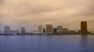 Stock Video Footage of norfolk virginia skyline