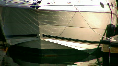 Boats sit idle Stock Footage