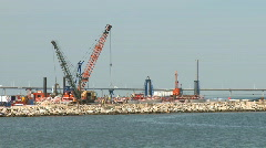 Port in construction time lapse Stock Footage