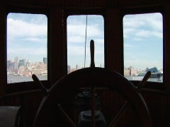 Manhattan Boat View 04 - stock footage