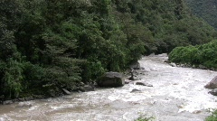 Peru rail riverway Stock Footage